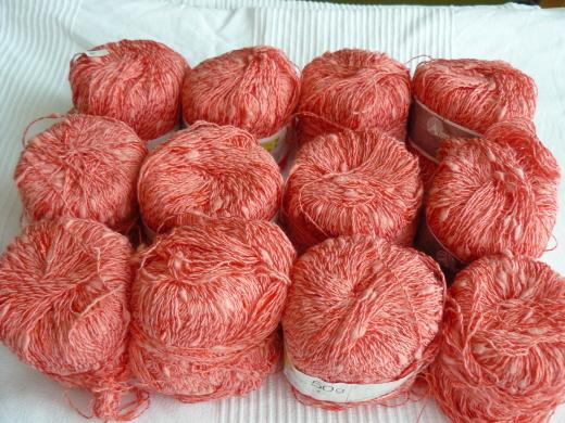 baumwolle-lachsfarben