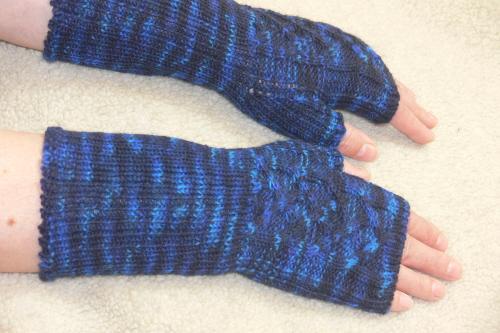 Handstulpen blau