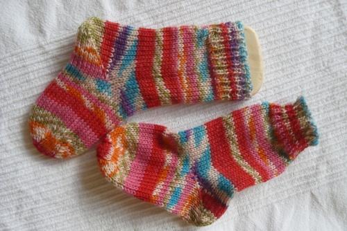 Socken Baby rot-pink